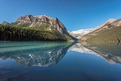 路易丝湖在加拿大的班夫国家公园 免版税图库摄影