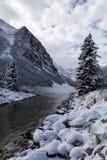 路易丝湖在班夫国家公园,加拿大 免版税库存照片
