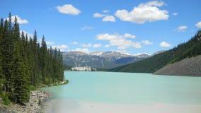 路易丝湖,亚伯大加拿大 免版税图库摄影