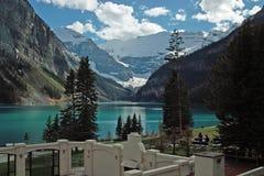 路易丝湖,班夫国家公园,亚伯大,加拿大。 免版税库存照片