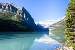 路易丝湖aberta西部加拿大 免版税库存照片