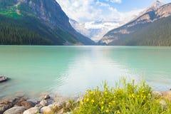 路易丝湖aberta西部加拿大 免版税库存图片