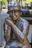 路易丝Mckinney著名五名妇女雕塑卡尔加里亚伯大Cana 免版税库存照片