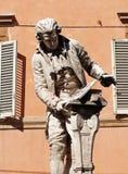 路易吉・伽伐尼雕象在波隆纳 免版税库存图片
