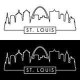 路易斯地平线st 线性样式 库存例证