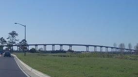 路易斯安那桥梁 免版税库存照片