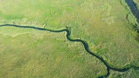 路易斯安那沼泽地鸟瞰图  库存图片