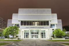 路易斯安那的州立图书馆在巴吞鲁日 库存图片