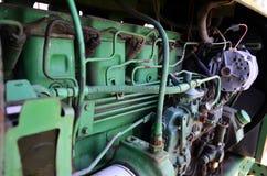 路易斯安那绿色拖拉机用内燃机01 免版税库存照片
