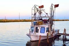 路易斯安那虾小船 图库摄影