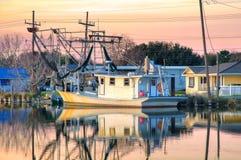 路易斯安那虾小船 免版税图库摄影