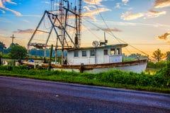 路易斯安那虾小船 库存图片