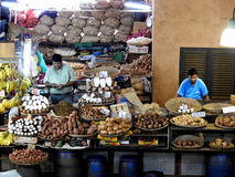 路易港市场,毛里求斯的首都 库存图片