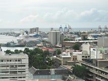 路易港毛里求斯在90末期 库存图片