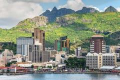 路易港都市风景,毛里求斯 免版税库存照片