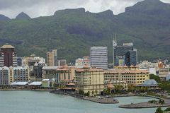 路易港,毛里求斯看法  免版税图库摄影