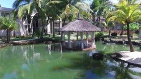 路易港,毛里求斯- 2015年12月04日:佳丽母马豪华类旅馆外部 股票视频