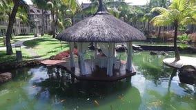 路易港,毛里求斯- 2015年12月04日:佳丽母马豪华类旅馆外部 影视素材