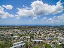 路易港,毛里求斯- 2015年11月28日:风景观点的佳丽Etoile在毛里求斯 多云天空在背景中 库存图片