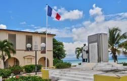 路易港,瓜德罗普,法国-可以10 2010年:老的法院大楼 免版税库存图片