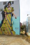 路易莎卡塞里斯de Arismendi,委内瑞拉街道画  库存图片
