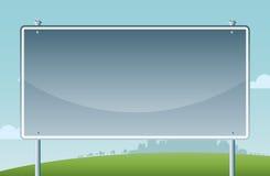 路标动画片背景 免版税库存图片