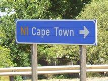 路标开普敦,南非 库存照片