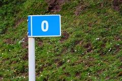 路标指示的零的英里-路线的开始 免版税库存图片