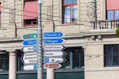 路标的各种各样的类型在卢赛恩 免版税图库摄影