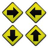 路标黄色 免版税库存图片