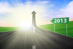 路标2013年背景 免版税库存图片