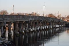 路桥梁在雅茅斯,鳕鱼角,马萨诸塞 免版税库存照片