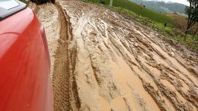 路湿泥泞 库存照片