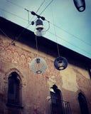 路灯到底在特雷维索,意大利 免版税库存照片