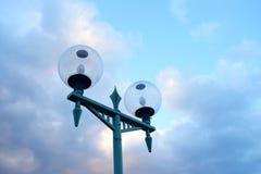 路灯在福岛市,日本 库存图片