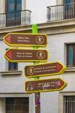 路牌,马德里,西班牙 免版税库存图片