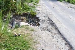 路的危险地方 库存图片