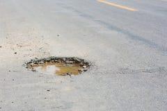 路的坑洼 库存图片