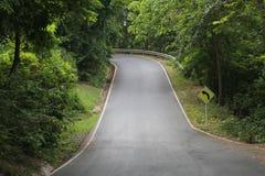路的曲线标志 库存图片