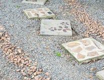 路的石块瓦片 免版税图库摄影