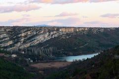 从路的顶端鸟瞰图在Rupe,克罗地亚 库存图片