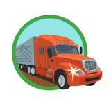 路的货物卡车司机 向量例证