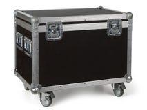 路盒或飞行案件在轮子 库存图片