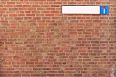 死路砖墙背景纹理 免版税库存图片
