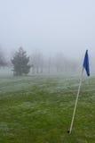 路线冷淡的高尔夫球 免版税库存照片