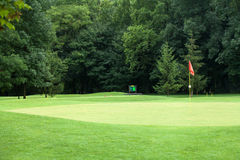 路线标志高尔夫球红色 库存照片