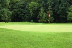 路线标志高尔夫球红色 免版税库存图片
