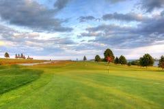 路线标志高尔夫球 库存图片