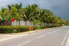 路线皇家高速公路 Trou辅助比谢,毛里求斯 免版税库存图片