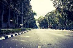路线风景在2017年12月3日的清迈泰国 免版税库存图片